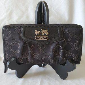 Coach Madison Op Art ZA Wallet Black